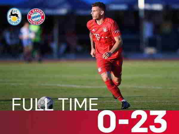 Bayern Munich sút 23 bàn vào lưới đối thủ khi đá giao hữu