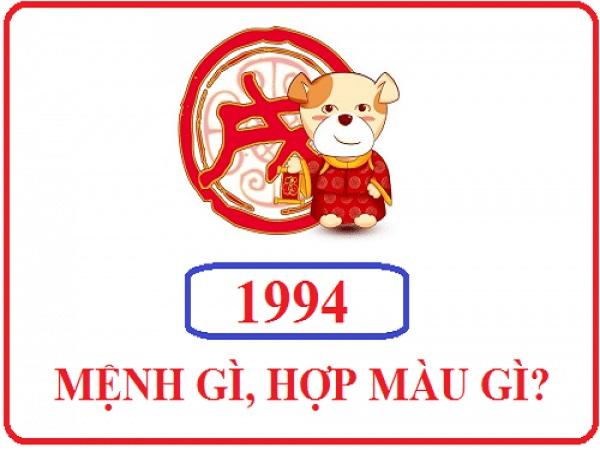 Theo phong thủy tuổi Giáp Tuất sinh năm 1994 hợp màu gì?