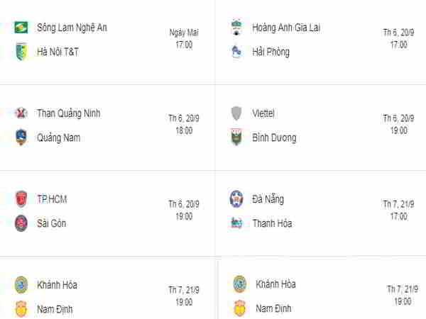 HAGL gặp khó khăn , Nam Định dễ thở tại vòng đấu thứ 24 V.League