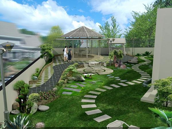Nguyên tắc thiết kế phong thủy sân vườn để mang tài lộc