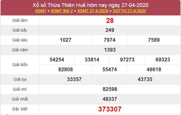 Dự đoán XSTTH 4/5/2020 - KQXS Thừa Thiên Huế thứ 2