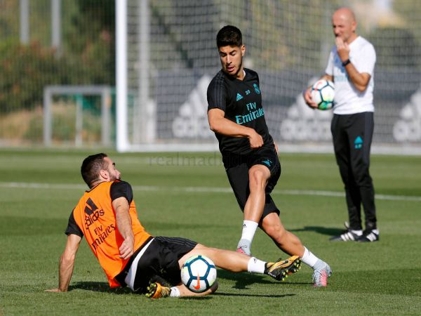 Aseniso trở lại sau chấn thương đã có thể luyện tập cùng đồng đội tại Real