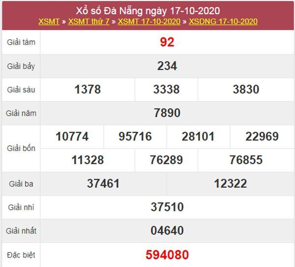 Dự đoán XSDNG 21/10/2020 chốt lô VIP Đà Nẵng thứ 4