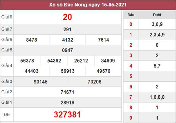 Dự đoán XSDNO 22/5/2021 chốt cầu lô VIP Đắc Nông