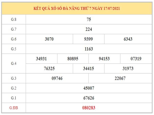 Dự đoán XSDNG ngày 21/7/2021 dựa trên kết quả kì trước